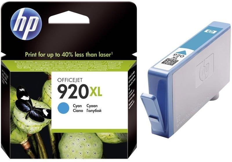 Консуматив, HP 920XL Cyan Officejet Ink Cartridge