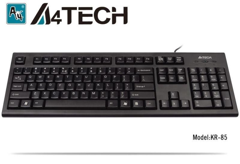 Клавиатура A4TECH KR85, PS/2, ЧЕРНА