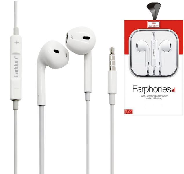 Слушалки за мобилни устройства Earldom ET-E18, Mикрофон, Бял - 20421