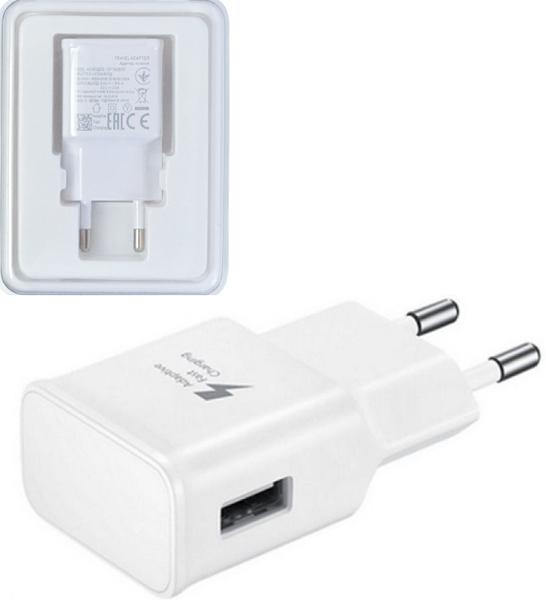 Мрежово зарядно устройство, No brand, Adaptive Fast Charging, 1 x USB, Бял - 14863