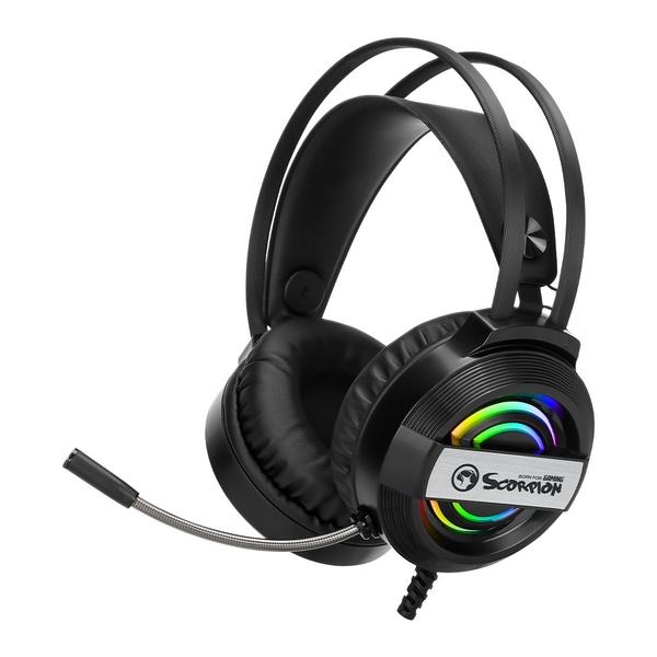 Marvo геймърски слушалки Gaming Headphones 50mm RGB USB - MARVO-HG8902