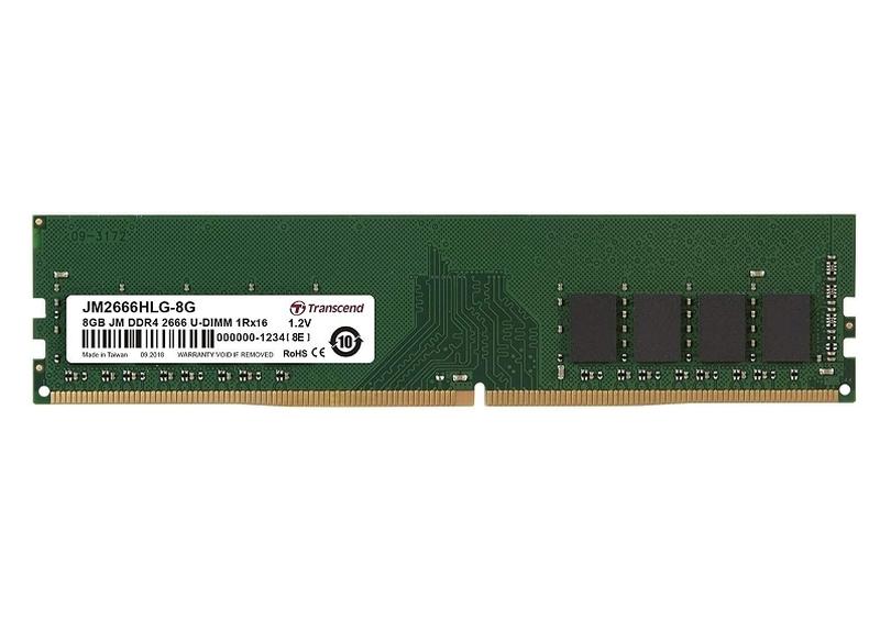 Памет, Transcend 8GB JM DDR4 2666Mhz U-DIMM 1Rx16 1Gx16 CL19 1.2V