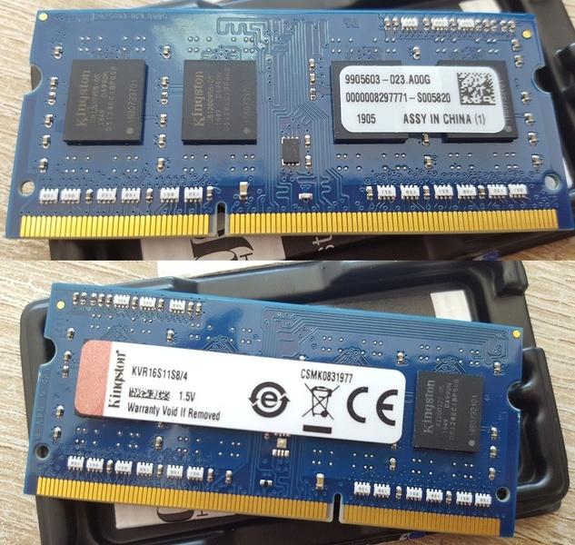 ПАМЕТ KINGSTON 4GB SODIMM DDR3 PC3-12800 1600MHZ CL11 KVR16S11S8/4