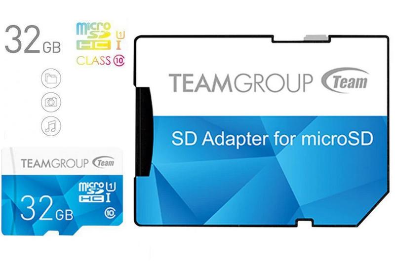 Карта памет TEAM GROUP COLOR MICROSDHC 32GB, UHS-I CLASS 10 + SD + адаптер