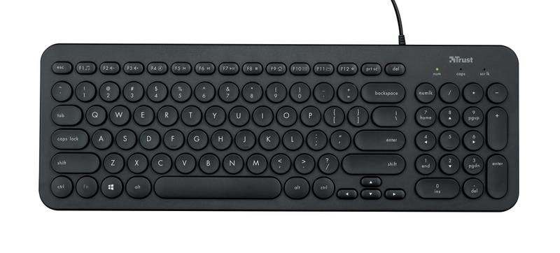 Клавиатура, TRUST Muto Silent Keyboard BG layout