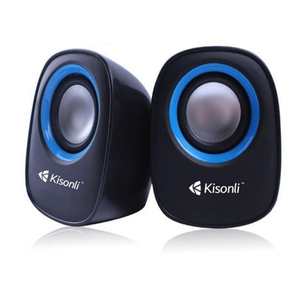 Тонколони Kisonli V360, 1.5W*2, USB, Различни цветове - 22046 - За компютър